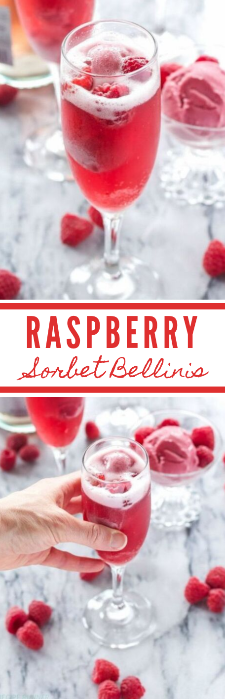 RASPBERRY SORBET BELLINIS #drink #healthy #raspberry #smoothie #cocktail