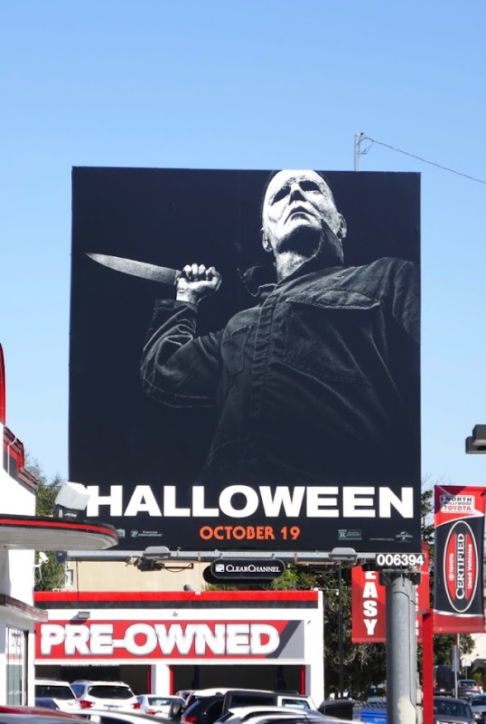 Michael Myers Halloween billboard