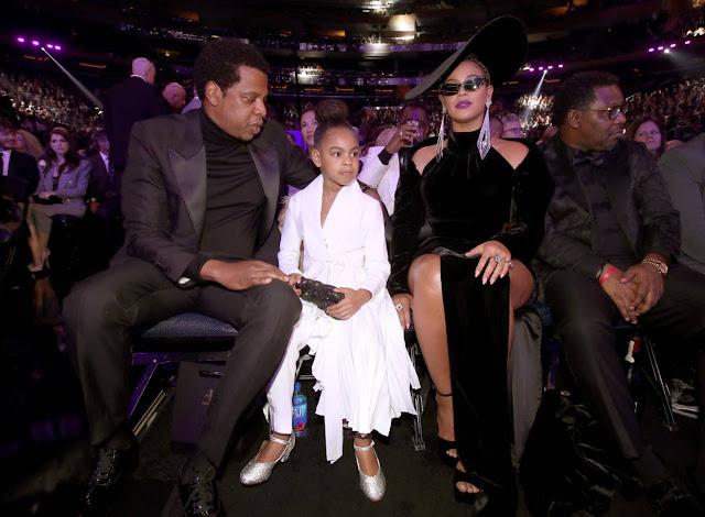 Jay-Z, Blue Ivy and Beyoncé (2018)