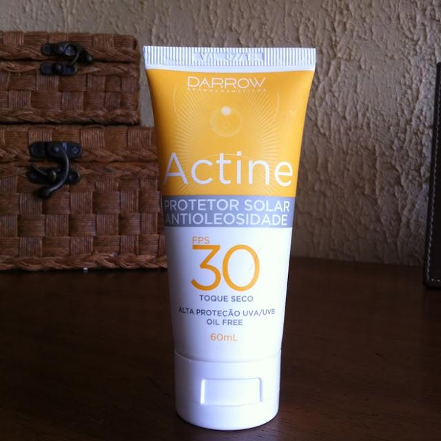 Resenha: Actine Protetor Solar Antioleosidade FPS30 - Darrow