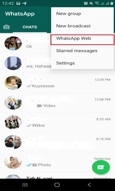 Cara Update Story di Whatsapp Web