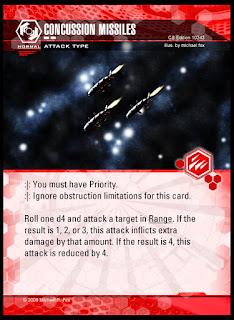 Attack type: Concussion Missiles