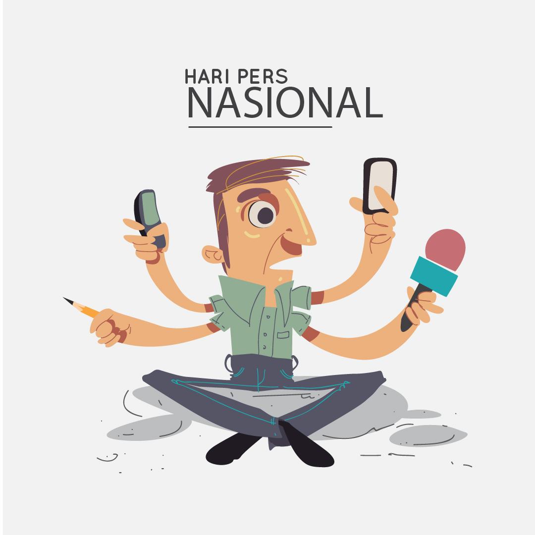 HARI PERS NASIONAL : Kumpulan Gambar Desain Template Hari Pers Nasional 2021