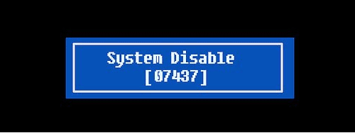 System Disable 5 digit code