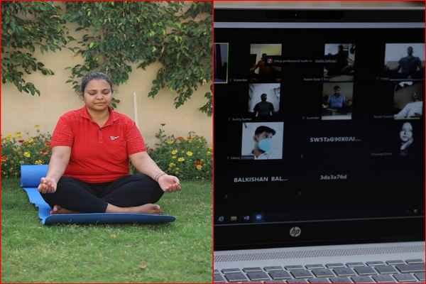 ips-dr-anshu-singla-teach-yoga-to-corona-positive-policemen