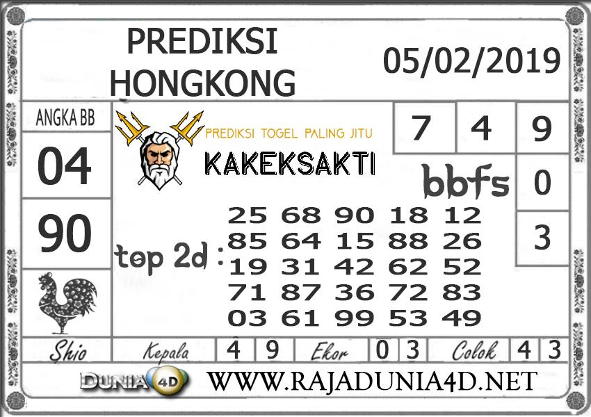Prediksi Togel HONGKONG DUNIA4D 05 FEBRUARI 2019