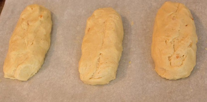 loaves of anisette cookie dough