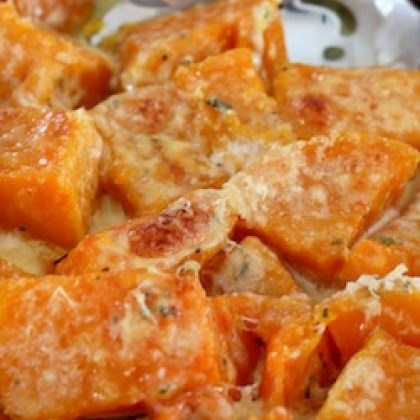 Rosemary-Parmesan Butternut Gratin