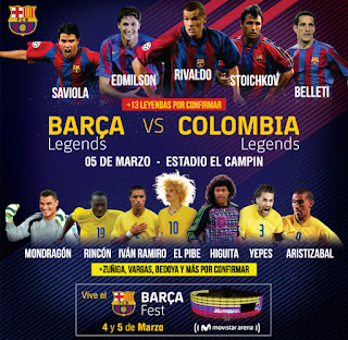 Barca Legends FC Vs Colombia Legends