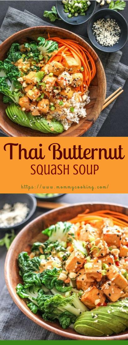 Thai Butternut Squash Soup #healthyvegetarian #souprecipe