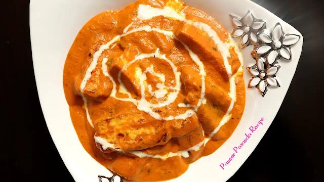 How to make Paneer Pasanda Recipe at home