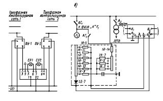 Схемы включения устройств контроля изоляции