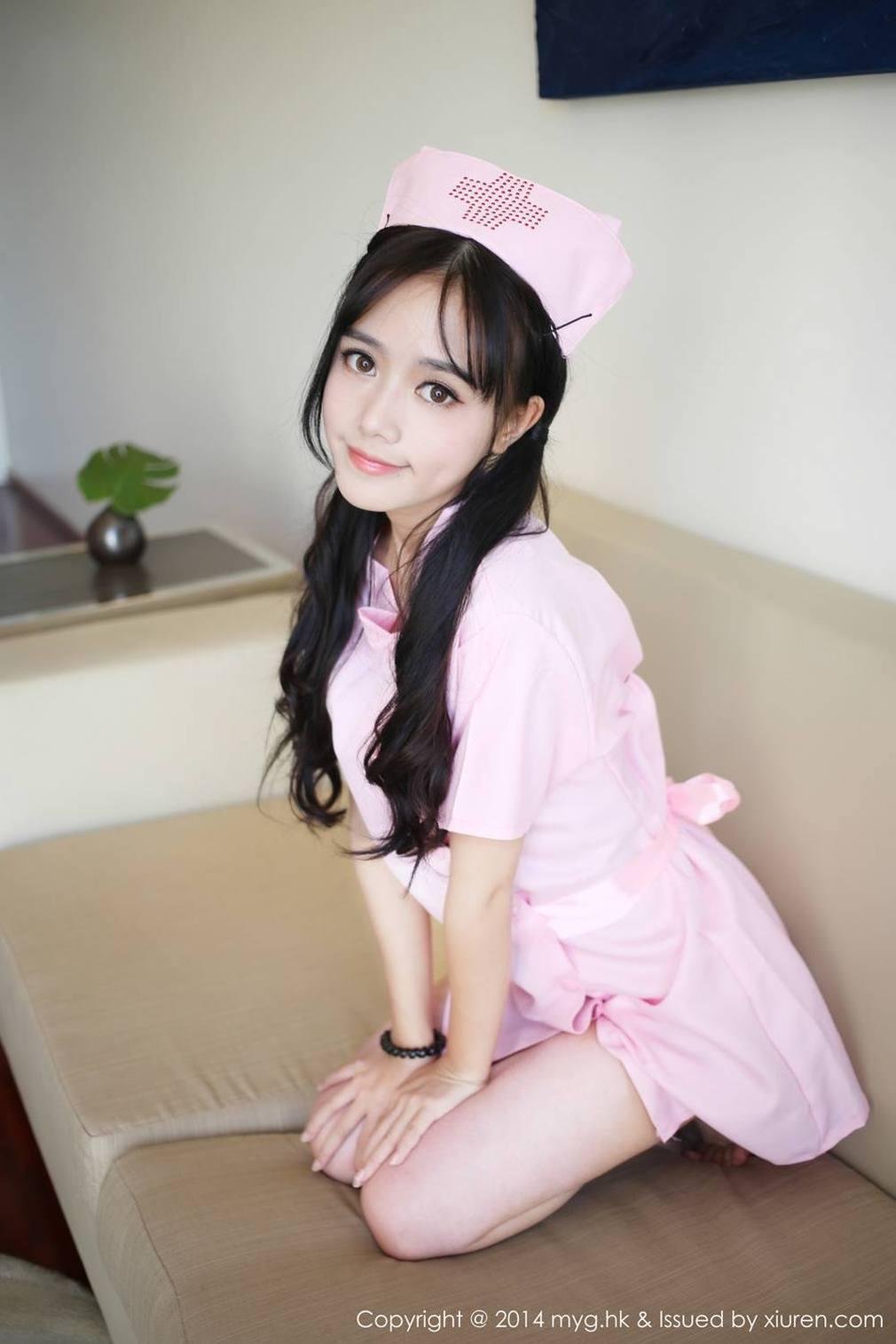 Yu Zhu Toro Nurse Cosplayer Bare-Butt  Mygirl -3408