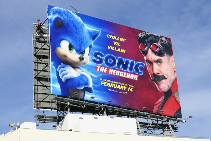 Sonic the Hedgehog film billboard