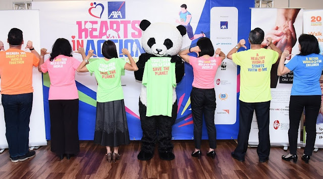 axa heart action run 2017 press launch