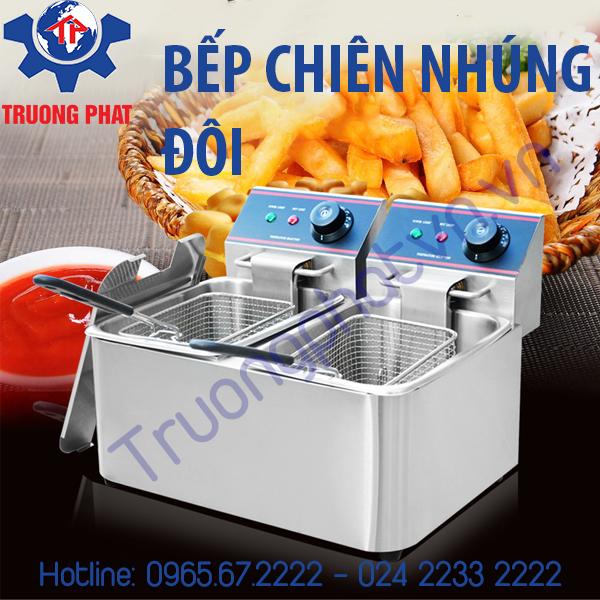 Mua bếp chiên nhúng điện đôi ở Hà Nội