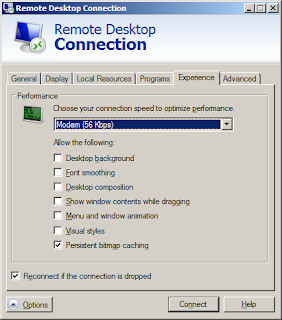 Faster Remote Desktop Connection