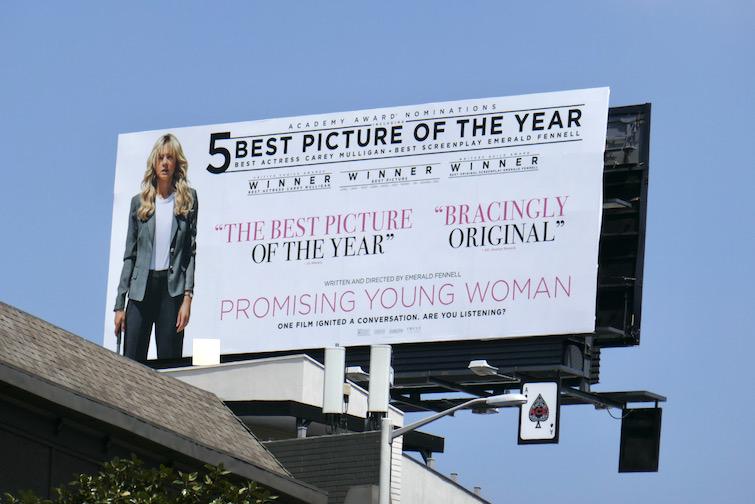 Promising Young Woman Academy Award billboard