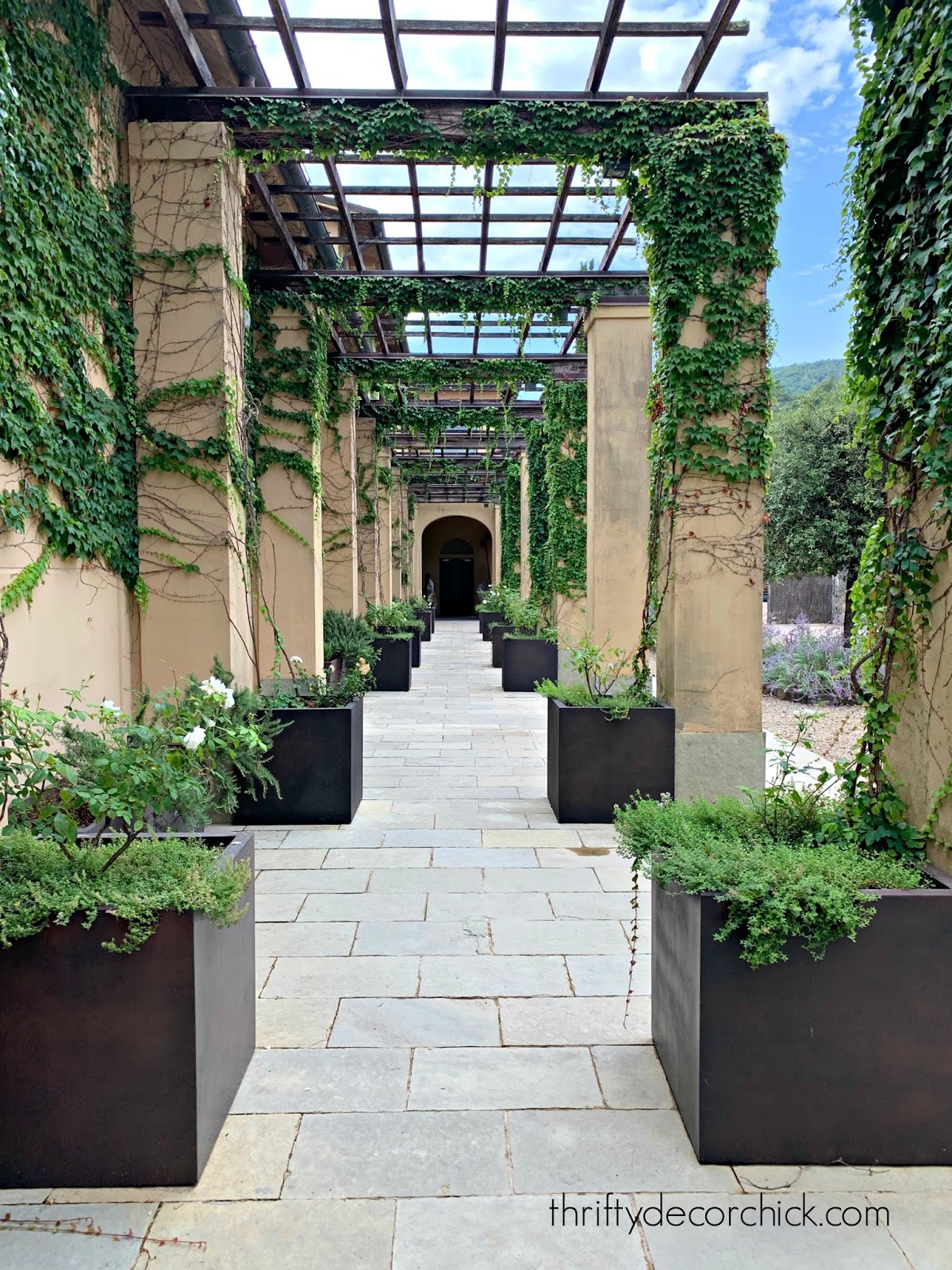 Symmetrical exterior landscaping and design