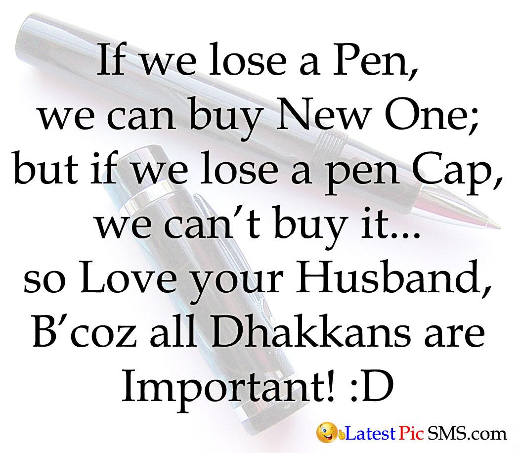 pen cap nice thought idea sms