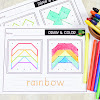 Geoboard Draw and Color Game