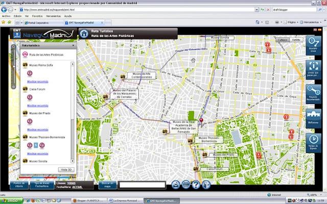 aplicacion Navega por Madrid