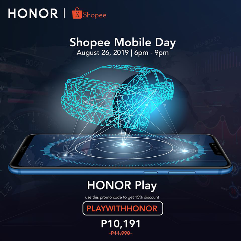 Sale Alert: HONOR Play will be priced at PHP 10,191 on August 26!