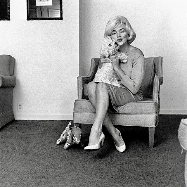 Lovely Pics of Marilyn Monroe With Her Pet Dog Maf Honey in 1961