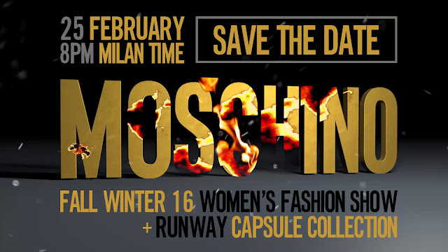 Watch Moschino's FW16 Show LIVE HERE TODAY from Milan!