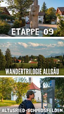 Wandertrilogie Allgäu  Etappe 09 Altusried-Schmidsfelden - Wiesengänger Route 21