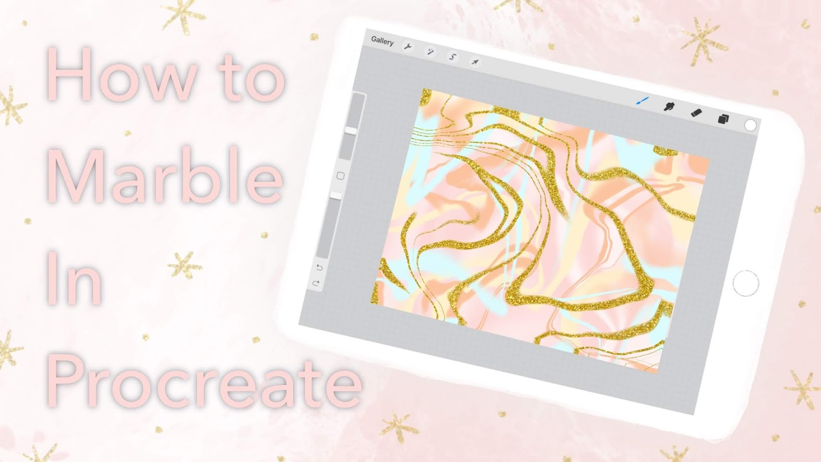 How to Marble in Procreate 25 Sweetpeas