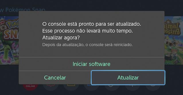 Nintendo Switch Atualização