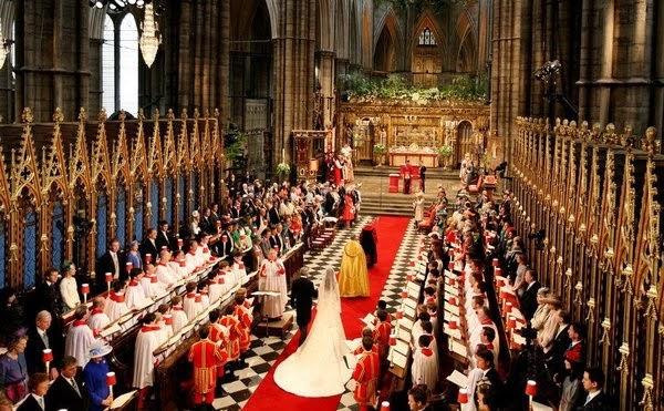 Cerimônia de casamento do duque e a duquesa de Cambridge em 2011 na Abadia de Westminster. Foto: Getty Images-Hunffingon Post