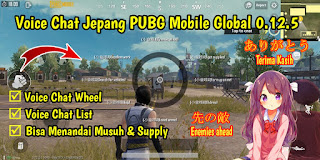 Cara Mengubah Voice Chat PUBG Mobile Global 0.12.5 ke Bahasa Jepang Loli Version