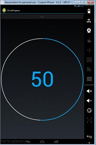 Make Custom Circular progress bar with percentage in android