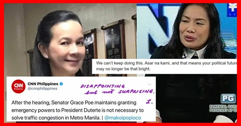Lady lawyer slams Poe following senator's statement granting emergency powers to PPRD unnecessary to solve MM traffic? ~ PTN