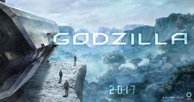 Grafika zwiastująca anime Godzilla