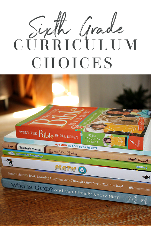 6th Grade Homeschool Curriculum Choices 2020-2021