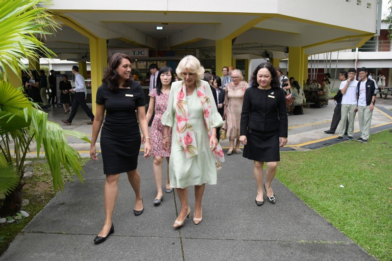 Duchess Camilla at Temasek Junior College.