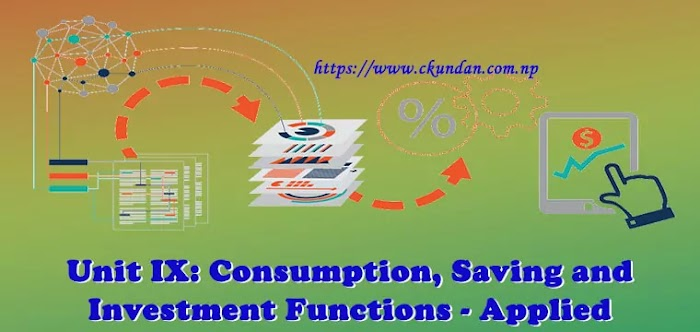Unit IX: Consumption, Saving and Investment Functions - Applied Economics