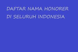 List Nama Honorer yang Terdaftar di GTK se Indonesia Terbaru