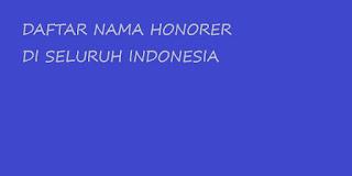 Daftar Nama honorer