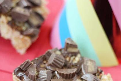 Peanut Butter Reese's Rice Krispies Treats