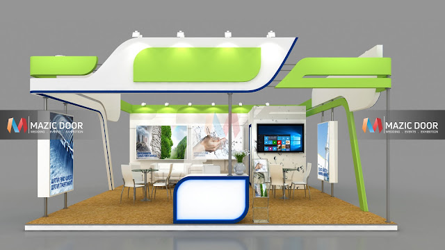 3 side open Exhibition Stall design-3