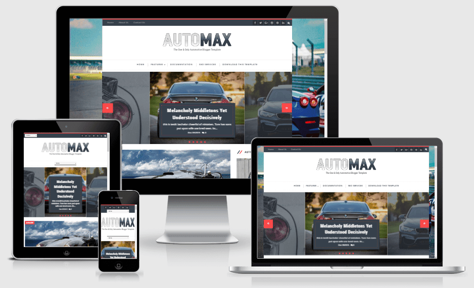 Automax - Responsive Only Automotive Blogger Template
