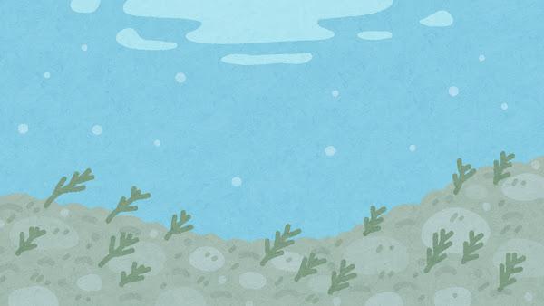 川の中のイラスト(背景素材)