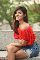 Rhea Chakraborty in Red Crop Top and Denim Shorts Spicy Pics ~  Exclusive 277.JPG