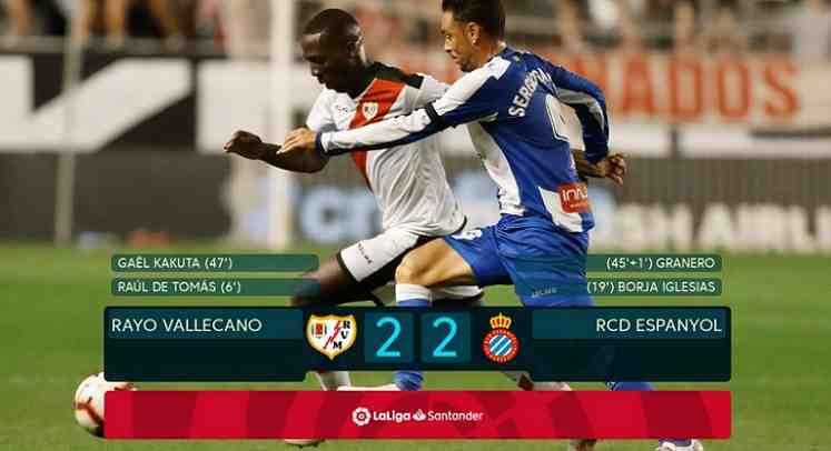 Hasil Rayo Vallecano vs Espanyol Skor Akhir 2-2