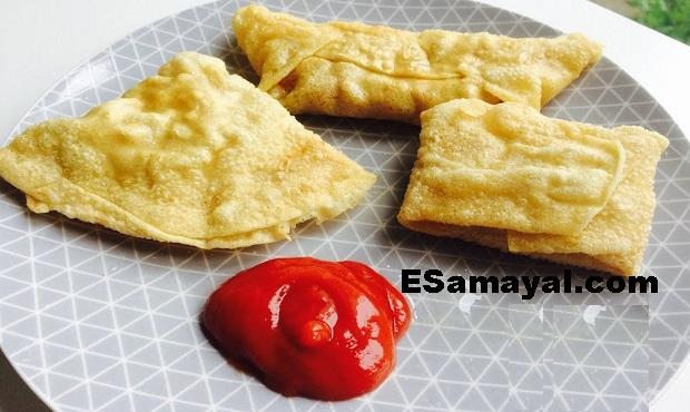 அப்பளம் சமோசா செய்வது | Appalam samosa Recipe !