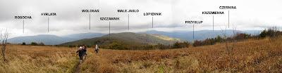 Panorama z Jasła na północ i północny zachód.